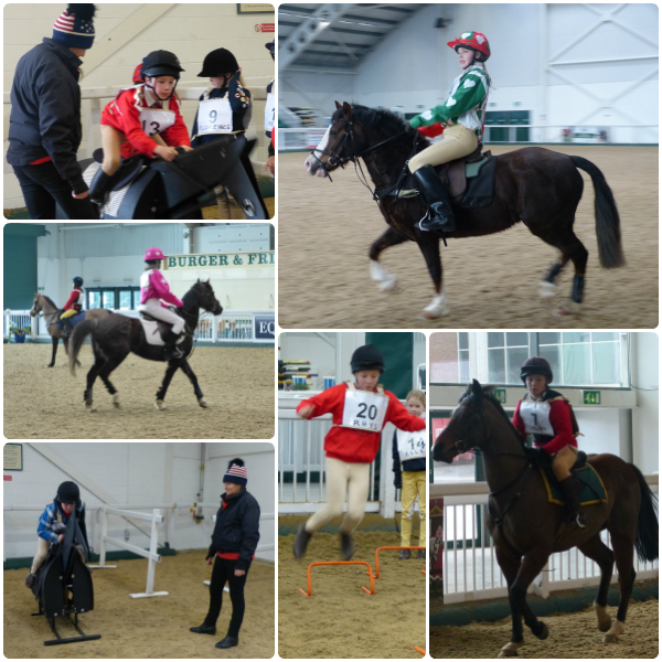 pony racing collage