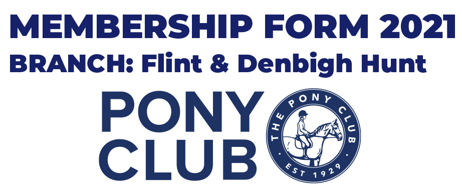 Pony Club Log - Rejoin Flint and Denbigh Pony Club